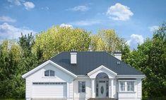 Красивый дом с большим гаражом и с чердачным помещением S8-227-5 (Дом на Парковой). Фасад 1. Shop-project