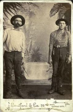 ca. 1870-90's, [carte de visite portrait of two Kansas City ice-men with an ice block], Scotford & Co. via Be-Hold, Fine Photograp...