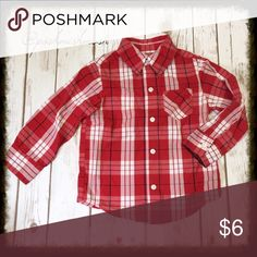 🍭 Arizona Jean Co. Red Plaid Button Down Like new. 🔷I'm happy to bundle items from this closet and my women's closet @poshmishmosh. 🔷 Arizona Jean Company Shirts & Tops Button Down Shirts