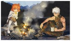 archer and fujimaru ritsuka (fate/grand order and fate (series)) drawn by hosoi mieko