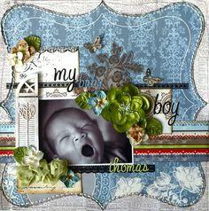 Layout: My Baby Boy **My Creative Scrapbook LE Kit**