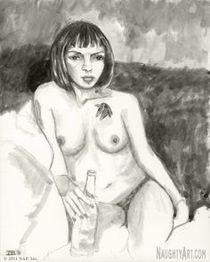 View figure drawing by Irvin Bomb of the sensual art model Palesaent. The fine art of rendering the nude female form in black & white. Life Drawing, Figure Drawing, Art Model, Figurative, Watercolor Paintings, Sketches, Ink, Fine Art, Black And White