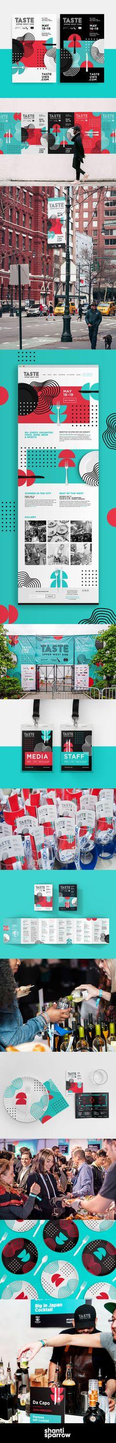 Design by Shanti Sparrow |   www.shantisparrow.com | Event Branding   Design  | TASTE of the Upper West Side #branding #event #eventbranding #rollout #foodfestival #poster #design #graphicdesign