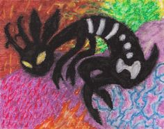 A critter done in pastels