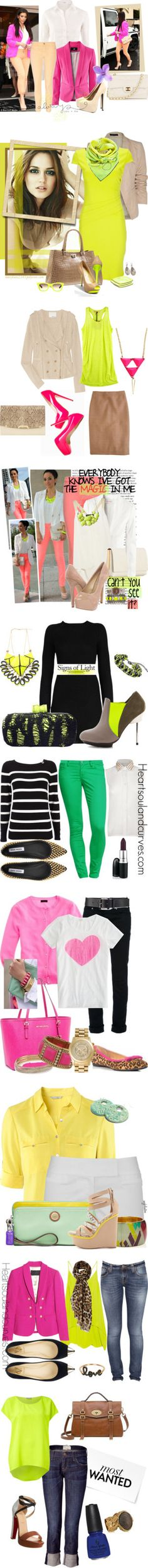 """Neon"" by gbean425 on Polyvore"