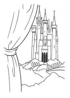 free printable castle coloring pages for kids pinterest