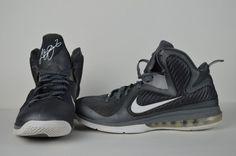 #Nike #Lebron #IX #9 #Cool #Grey/White-#Metallic #Silver #2012 #469764-007 #Men's #SZ11 #Nike #469764007