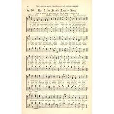 Hark the Herald Angels Sing Mendelssohn & Wesley Golden Bells c1880 Canvas Art - (18 x 24)