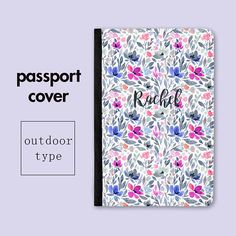 Personalized Wild Garden Vinyl Passport Holder