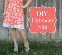 my new extender slip, plus a tutorial!