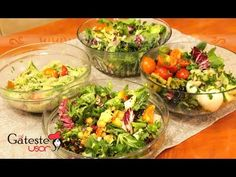 4 retete de Salate Sanatoase pentru Regim salata meze ve kanepe Tarifleri videolu tarif – The Most Practical and Easy Recipes Guacamole, Health, Ethnic Recipes, Food, Youtube, Diet, Food Food, Health Care, Essen