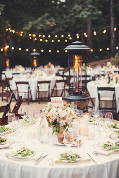 rustic chic outdoor wedding reception