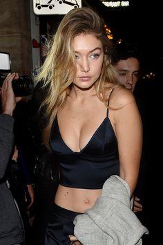 WHO: Gigi Hadid  WHERE: On the street, Paris  WHEN: October 4, 2015