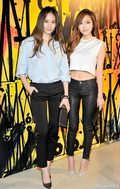 Fx Krystal and SNSD Jessica Come visit kpopcity.net for the largest discount fashion store in the world!!