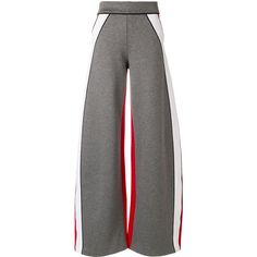 Dsquared2 wide leg trousers (3689845 PYG) ❤ liked on Polyvore featuring pants, grey, striped wide leg trousers, tailored trousers, wide leg trousers, elastic waist pants and gray pants