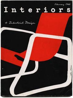 Albe Steiner, cover design for Interiors and Industrial Design, 1948.