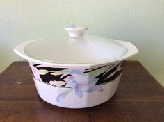 Vintage Mikasa Charisma-Black 2.25 Qt Casserole by 2roads2take