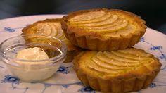 Æbletærte med mandelcreme