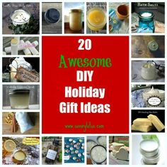 Need some holiday gift ideas? Why not make your own this year? Homemade gifts are always the most appreciated.