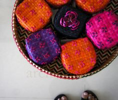 Manjal baskets, from the M.Rm.Rm Cultural Foundation in Chennai India