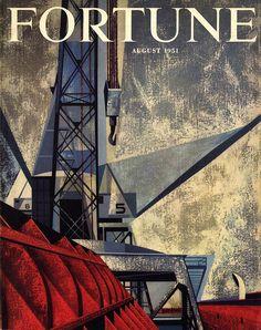 Fortune magazine Illustrated by Edmund Lewandowski October 1951