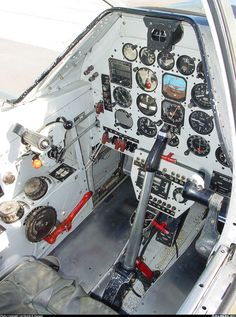 North American P-51D Mustang modernized cockpit: HSI, CDI, AH, transponder, radio freqs selector...