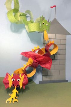 Whirligigs Party Co: Dragon Craft for kids to print - # for . - Whirligigs Party Co: Dragon Craft for kids to print - New Year's Crafts, Diy And Crafts, Crafts For Kids, Arts And Crafts, Craft Kids, Book Crafts, Craft Work, Preschool Crafts, Dragon Birthday Parties