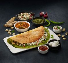 dosa indian food photography
