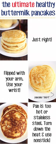 How to make the BEST buttermilk pancakes you'll ever eat! Light, fluffy & absolutely perfect.