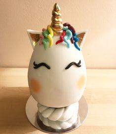 Unicorn egg! Unicorn Egg, Chocolate Art, Easter Crafts For Kids, Egg Decorating, Cake Art, Easter Eggs, Cami, Cupcakes, Food
