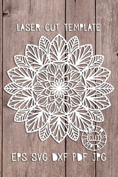 Template mandala for laser cutting. Template mandala for laser cutting. Stencil mandala for cutting from a variety of materials. Paper Cutting Patterns, Paper Cutting Templates, Stencil Templates, Stencil Designs, Mandala Stencils, Mandala Art, Mandala Design, Laser Art, Paper Crafts Origami