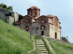 The century Church of the Holy Trinity (Kisha Shen Triadha) in Berat Castle, Albania, displays typical Byzantine architectural characteristics. Place Of Worship, 14th Century, Albania, Byzantine, Vacation Destinations, Beautiful Places, Castle, Mansions, Architecture