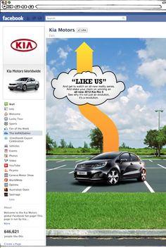 Kia Motors - Promotional Facebook Page Design #kia