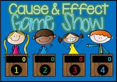 Cause and Effect Jeopardy style game show!  Common Core aligned and excellent practice for your 2nd to 4th Grade students. With 25 practice problems, in a game show setting, your students will get lots of review.  I've updated this product March 27, 2015 to include answers.