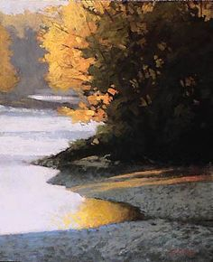 Riverbank | Marc Bohne | oil on panel.