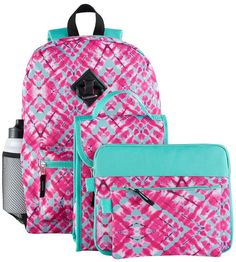 40bf2a35b Give your kiddo bold and trendy style with this backpack, lunch bag, tablet  case, pencil case and water bottle set.