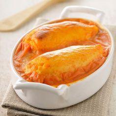 Découvrez la recette Quenelles gratinées à la sauce tomate sur cuisineactuelle.fr.
