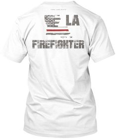 Louisiana Firefighter Thin Red Line T-Shirt