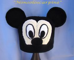 """Varie - Il cappello """"Topolino"""" 0-3 mesi - un prodotto unico di sveva79 su…"""