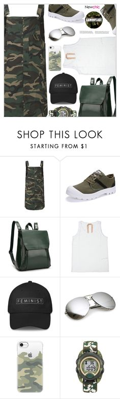 """""""Newchic Camo"""" by arohii ❤ liked on Polyvore featuring Casetify, Timex, camostyle and newchic"""