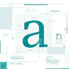 typeface_ archigram by Soledad Degl'innocenti, via Behance