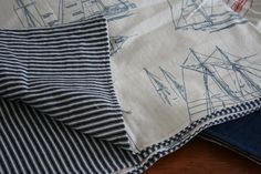 birch & lily, Nautical Baby Quilt and Receiving Blankets