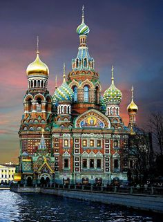 The Church of Our Savior on Spilled Blood.  St. Petersburg, Rusia,