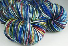 Indigodragonfly yarns, 50 Shades of Bazinga. Little Purls of Wisdom socks: Knitty Deep Fall 2012