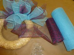 Ideas and Inspirations: Crankin' Out Crafts Episode 95 - Tubular Deco Mesh Wreath