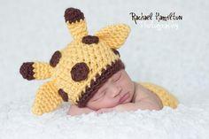 Giraffe handmade crochet HAT  Newborn to 10 years by NattyHatty, $22.99