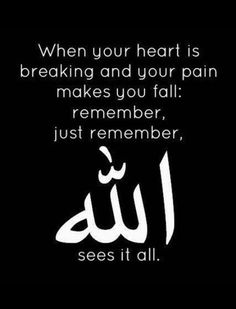 allah quotes heart broken islamic islam remember quote muslim arabic quran sayings dua sees hadith god light verses hindi qoutes Muslim Love Quotes, Beautiful Islamic Quotes, Islamic Inspirational Quotes, Religious Quotes, Beautiful Words, Islamic Qoutes, Islamic Teachings, Beautiful Images, Hindi Qoutes