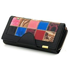 Regsun Checkbook Wallets Large Capacity Women's Leather Clutch Coin Purse