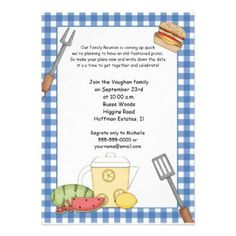 Family Reunion Picnic Invitations | Best Picnic invitations and ...
