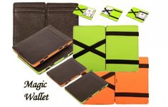 9,95 ipv 29,95 voor een MAGIC WALLET in groen of oranje, inclusief verzending! (waarde € 29,95)